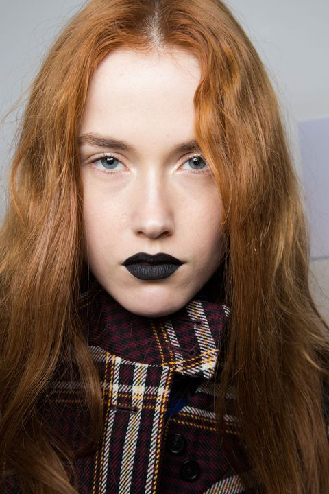 Face, Lip, Cheek, Brown, Hairstyle, Chin, Eyebrow, Textile, Eyelash, Style,