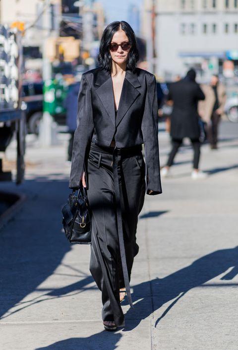 moda 2016 street style look monocromatico nero
