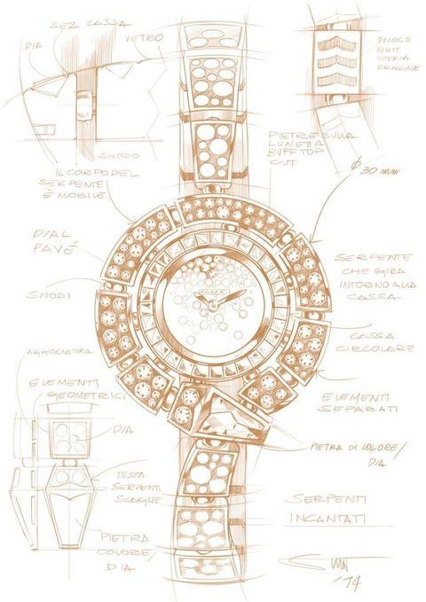 """<p>Cosa c'è dietro l'orologio Serpenti Incantati<span class=""""redactor-invisible-space""""> di Bulgari? Ecco svelato il mistero nel bozzetto di questo esempio di  alta orologeria e alta gioielleria.</span></p>"""