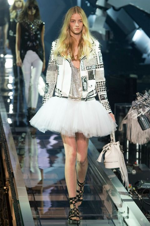 Moda estate 2016 gonne in tulle philipp plein