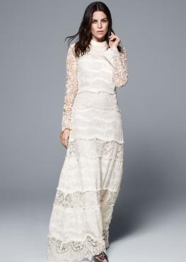 <p> La nuova collezione eco di H&M include anche una novità total white: sono i tre abiti da sposa, dalle linee sognanti e drappeggiate, per una sposa elegante e consapevole.</p>