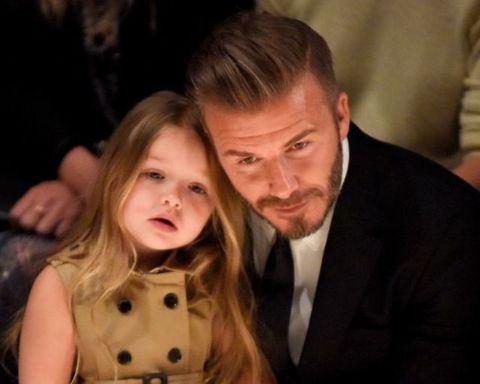 David Beckham padre adorabile con Harper Seven