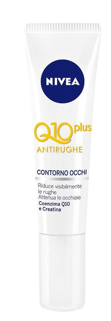 <p>Q10 Plus antirughe contorno occhi, <strong>Nivea</strong> (€ 12,90).</p>