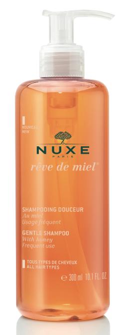 <p>Formulato senza silicone, lava con delicatezza tutti i tipi di capelli e li profuma con un delicato aroma di miele: Shampoo Delicato Rêve de Miel di Nuxe.</p>