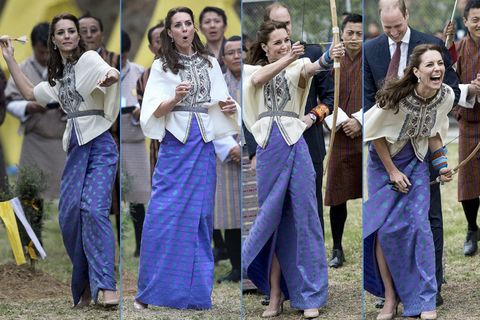 Kate Middleton fa sport in Buthan