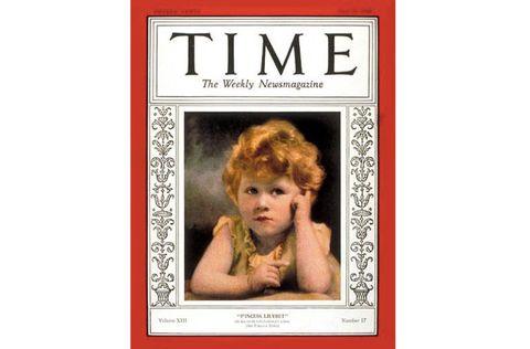 La regina Elisabetta a tre anni sulla copertina di Time