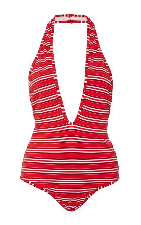 """<p><strong>Zimmermann</strong> one-piece swimsuit, $295, <a href=""""https://www.modaoperandi.com/zimmermann-pf16/roza-striped-one-piece-swimsuit"""" target=""""_blank"""">modaoperandi.com</a>. </p>"""