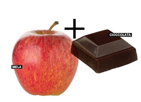 <p>La mela abbassa il rischio di infarto e ictus. Il cioccolato mantiene le arterie flessibili. Insieme attivano una protezione ancora più forte perché apportano quercetina e catechina, sostanze che tengono pulite le arterie e riducono il rischio di malattie cardiovascolari. </p>