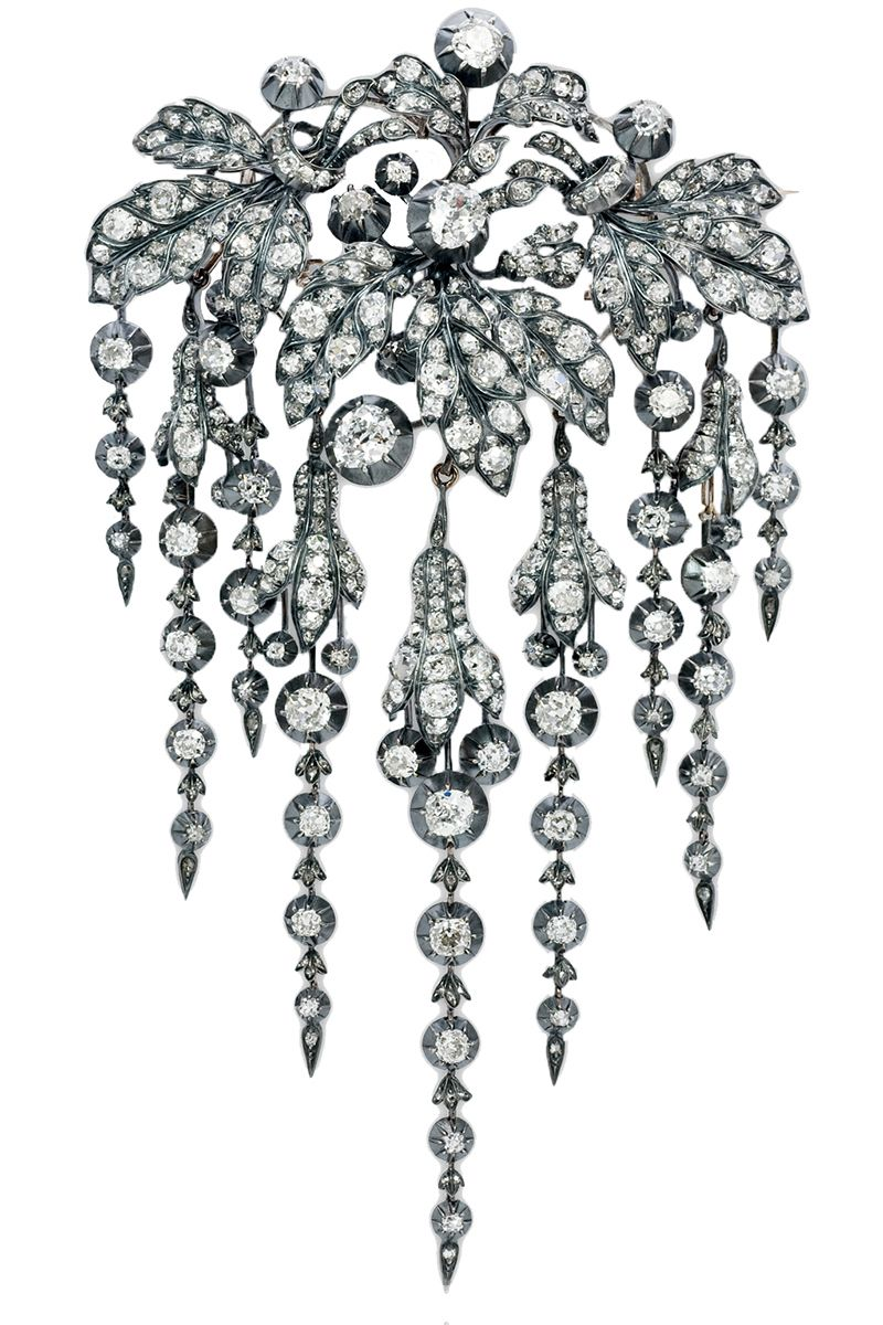 """<p>Stephen Russell 19th century diamond hairpiece, circa 1860, price upon request, <a href=""""http://stephenrussell.com"""" target=""""_blank"""">stephenrussell.com</a>.</p>"""