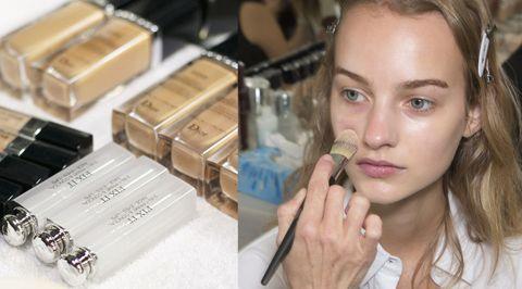 Lip, Skin, Eyebrow, Eyelash, Box, Cosmetics, Makeover, Brown hair, Packaging and labeling, Makeup brushes,