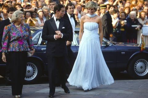 "<p>The lovely Diana created an iconic moment when she walked the red carpet in this powder blue Catherine Walker dress. In 2011, this look <a href=""http://www.instyle.co.uk/celebrity/news/princess-diana-s-1987-cannes-film-festival-dress-auctions-for-81k"" target=""_blank"">sold at auction</a> for £81k<span class=""redactor-invisible-space"">.</span></p>"