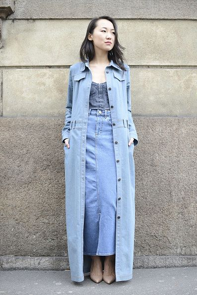 gonna jeans street style