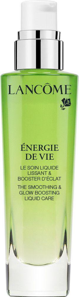 <p>Énergie de Vie Liquid Care Le Soin Liquid Lissant & Booster d'Éclat di Lancôme è uno shot d'idratazione energizzante e antiossidante con melissa francese, genziana e agenti idratanti, fresco come una lozione, idratante come una crema, concentrato come un siero (da 42 euro). Nella linea anche una Lozione Perlata rinfrescante e levigante e la Sleeping Mask per il recupero notturno.</p>