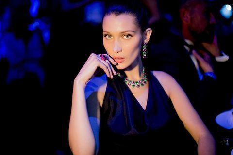 Earrings, Jewellery, Eyelash, Fashion accessory, Wrist, Body jewelry, Fashion, Electric blue, Fashion model, Necklace,