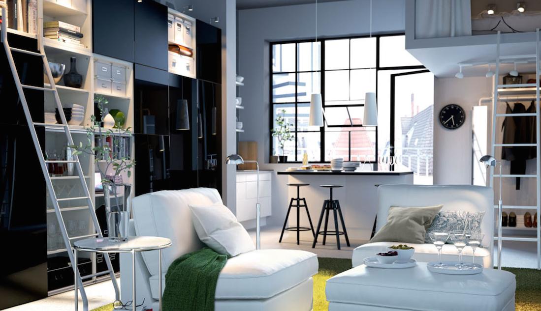 Arredare Salotti Piccoli : Arredare il soggiorno con idee salvaspazio