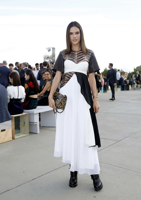 <p>Alessandra Ambrosio in Louis Vuitton</p>