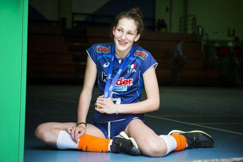 Marina Lubian e le ragazze della pallavolo nazionale