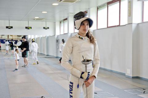 Elena Micheli si allena per realizzare un sogno: la medaglia olimpica nel pentahlon moderno.
