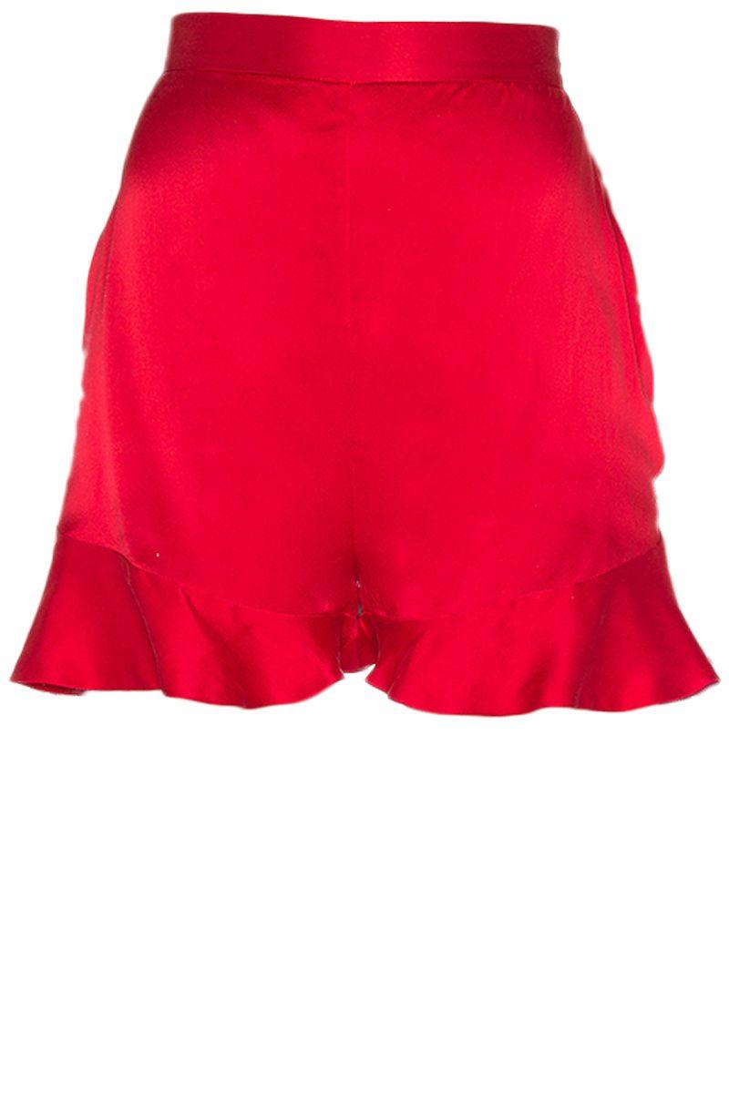 "<p><strong>Zimmermann</strong> shorts, $186, <a href=""http://www.revolve.com/zimmermann-sueded-silk-floating-short-in-crimson/dp/ZIMM-WF4/?d=Womens#"" target=""_blank"">revolve.com</a>. </p>"