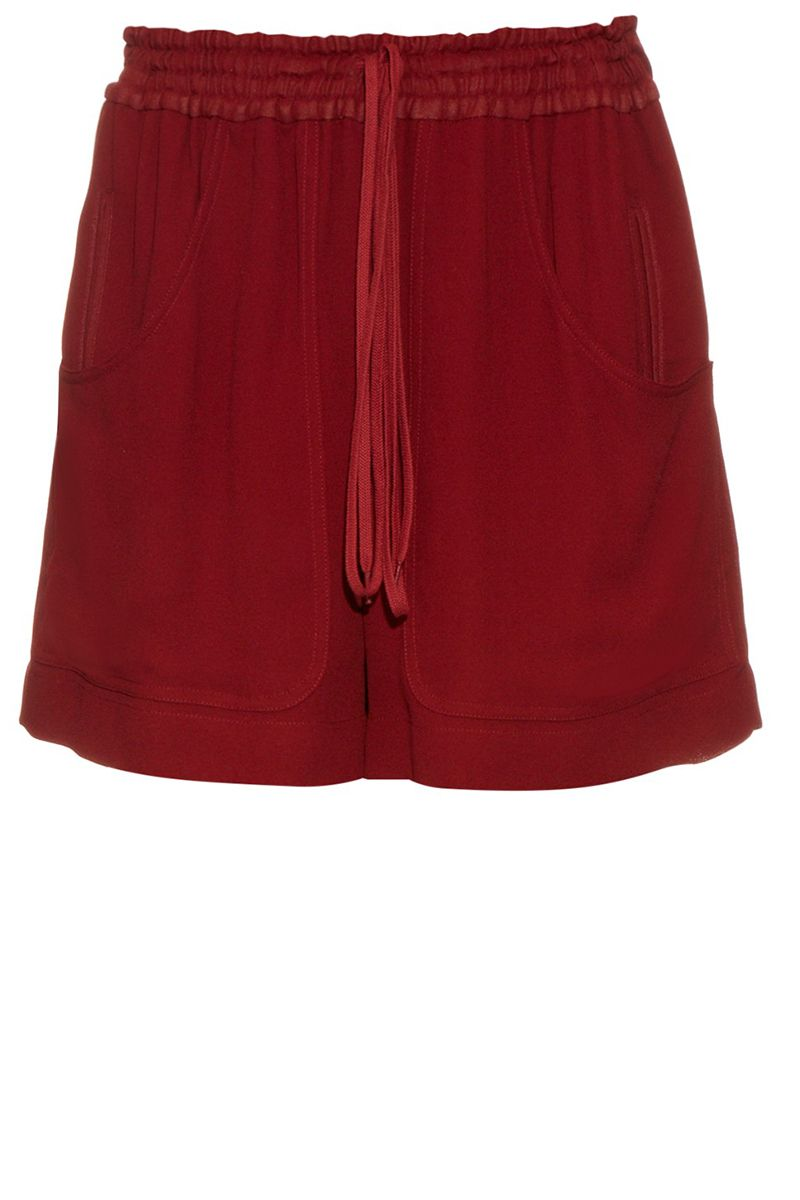 """<p><strong>Chloé </strong>shorts, $690, <a href=""""http://www.matchesfashion.com/us/products/Chlo%C3%A9-Wide-leg-crepe-track-shorts-1047465"""" target=""""_blank"""">matchesfashion.com</a>. </p>"""