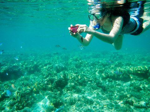 """<p>Il nuoto è il più classico di tutti gli sport estivi, e vuoi mettere abbandonare per qualche settimana l'invernale piscina per fare qualche bracciata al largo <a href=""""http://www.elle.com/it/idee/viaggi/news/g788/bandiere-blu-2016/""""><em>dove l'acqua è più blu</em></a>? Se poi per le tue vacanze hai scelto una meta rinomata per le bellezze dei fondali, puoi anche approfittare delle escursioni che molte località di villeggiatura propongono per andare a fare snorkeling.</p>"""