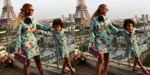 Beyoncé e Blu Skyabito gucci