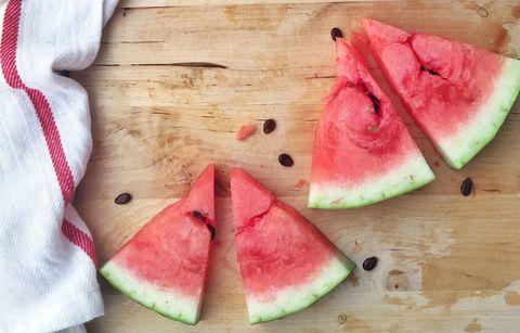 Green, Food, Citrullus, Fruit, Produce, Natural foods, Melon, Peach, Pink, Sweetness,