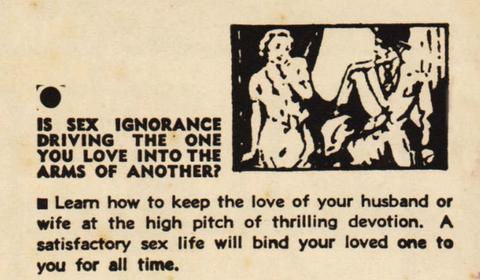 <p>Herman H. Rubin nel suo A<em>rmonia sessuale ed eugenetica</em>, pubblicato nel 1934, afferma che la «falsa modestia» di una donna può rovinare un matrimonio. Non importa se si è stressate per i figli, insicure sul lavoro o se si soffre di depressione: se si arriva al divorzio, molto probabilmente è perché la donna ne sa poco di sesso.</p><p>Per rimanere sposate bisogna essere brave a letto. «Una donna può perdonare quasi tutto a un uomo, a patto che lui sia un amante perfetto… Per essere un buon marito, bisogna diventare un ottimo amante. La moglie, dal canto suo, dovrebbe sgombrare la mente da tutte quelle idee puritane o pruriginose e capire che collaborando con il marito per il piacere reciproco, aumenta la propria felicità, e consolida il suo stato di moglie amorevole e molto amata».</p>