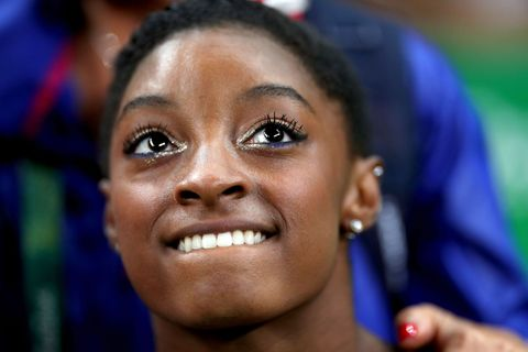 <p>A dusting of silver on the inner corners, a streak of blue on the bottom lashline, and first place in every event she's competed in so far...</p>