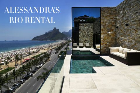 """<p>Alessandra opted for a <a href=""""https://www.airbnb.com/rooms/9044231"""" target=""""_blank"""">modern beach house</a> for her weeks back in Brazil, choosing a sleek contemporary condo with a private plunge pool killer views. Here's what you can expect from $2,236 per night.</p>"""