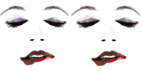 Lip, Cheek, Skin, Forehead, Eyebrow, Red, Eyelash, White, Style, Jaw,