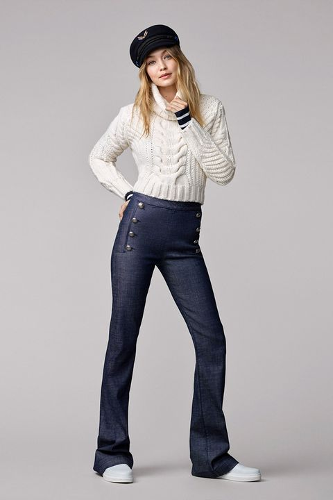 Gigi Hadid for Tommy Hilfiger clothing collection look book
