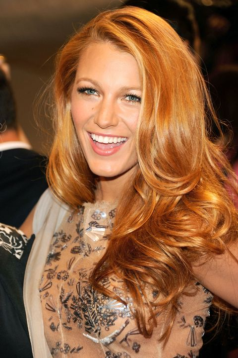 """<p>Who says Blake Lively looks best as a blonde? We loved the way these orangey copper tones once suited her fair skin tone.<span class=""""redactor-invisible-space""""></span></p>"""