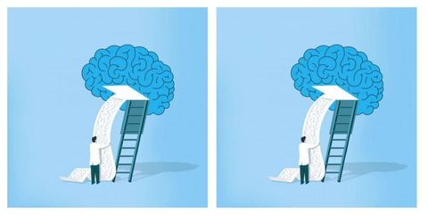 Blue, Teal, Aqua, Turquoise, Azure, Electric blue, Brain, Design, Arch, Illustration,