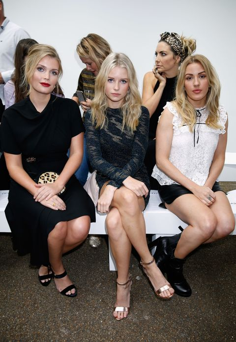 <p>Kitty Spencer, Lottie Moss e Ellie Goulding.</p>