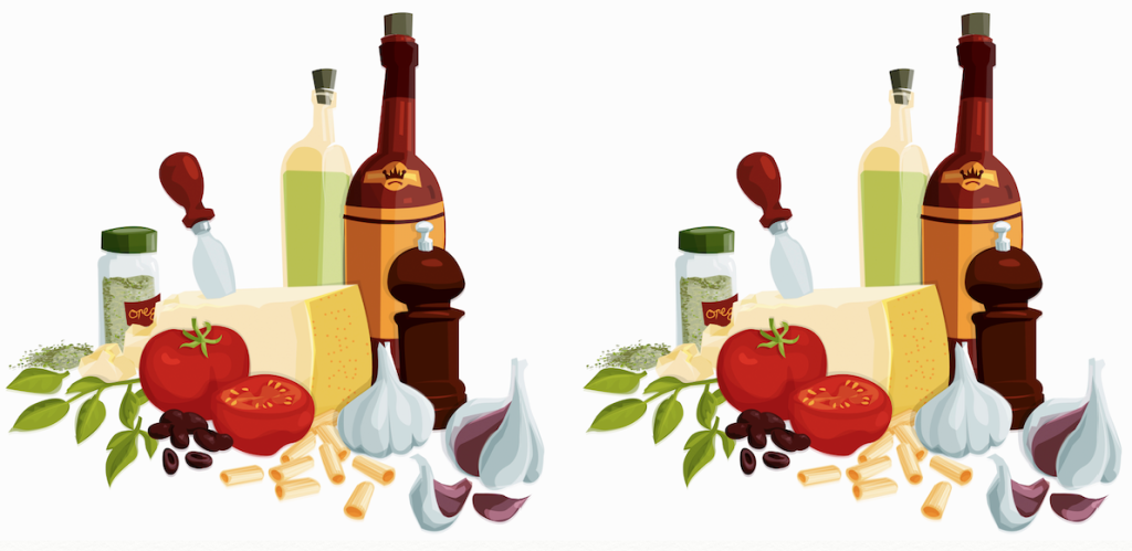 esempi di dieta dissociata dei menu dei ristoranti