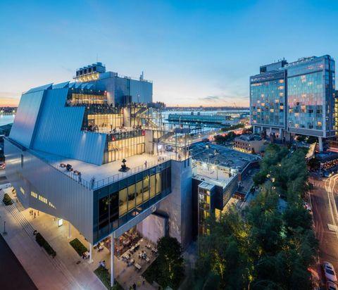 <p>Nel 2015 il <strong>Whitney Museum of American Art</strong> si è spostato dalla Upper East Side alla nuova sede – disegnata da Renzo Piano – nel Meatpacking District. Ora si staglia in tutta la sua moderna bellezza geometrica, con pannelli in vetro sul lato sud della High Line, invitando la folla a entrare per ammirare l'impressionante collezione con oltre 21mila pezzi.</p>