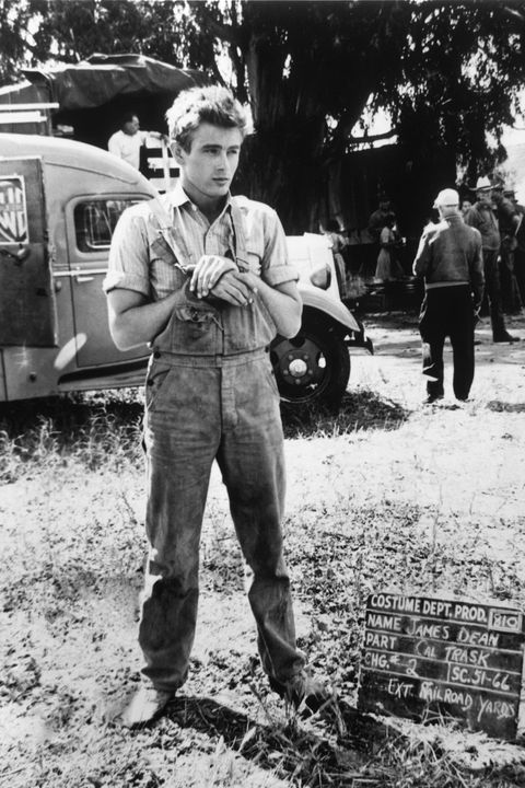 CALIFORNIA - 1954: Actor James Dean poses for a photo on the set of the Warner Bros film 'East Of Eden' in 1954 in California. (Photo by Michael Ochs Archives/Getty Images)