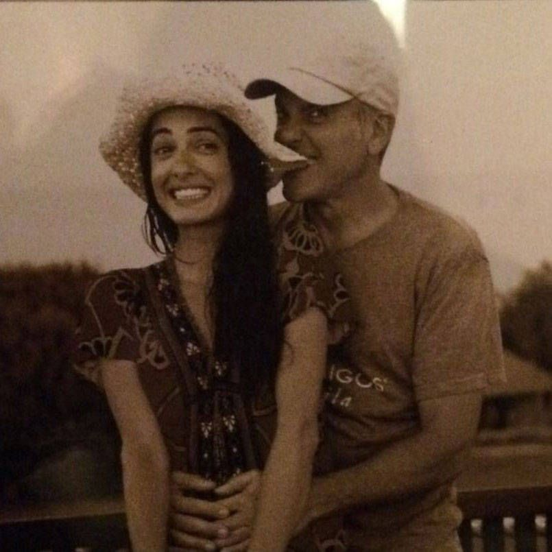 <p>A personal snapshot of the couple, shared with guests at their wedding. </p>