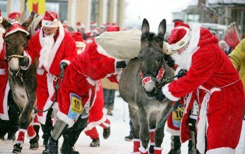 """<p>La piccola città svizzeradi Samnaunè il luogo dove si svolge il <em data-redactor-tag=""""em"""" data-verified=""""redactor"""">ClauWau</em>, noto anche come i <strong data-redactor-tag=""""strong"""" data-verified=""""redactor"""">Campionati del mondo di Babbo Natale</strong>. Qui, squadre provenienti da tutto il mondo, vestite a festa in sgargianti abiti da Babbo Natale si incontrano in una stazione sciistica locale per competere in diverse gare: da quelle conracchette da neve, allaslitta, fino aun concorso di decorazione di pan di zenzero. Menzione d'onore alconcorso di arrampicata, quando iBabbi devono portaresacchipieni di giocattoli sulle spalle e, dopo aversuonatoi campanelli delle case, saliresu fino in cima alla canna fumaria.<span class=""""redactor-invisible-space"""" data-verified=""""redactor"""" data-redactor-tag=""""span"""" data-redactor-class=""""redactor-invisible-space""""></span></p>"""