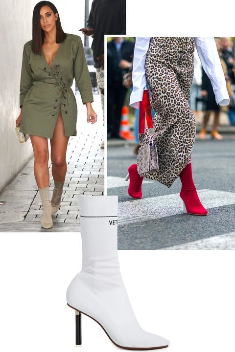 <p>The innovative sock boot came out as a surprise style of the year with versions by both Yeezy and Vetements. Kim Kardashian-West repped the style designed by her husband while the street style set fell hard for the latter.</p>