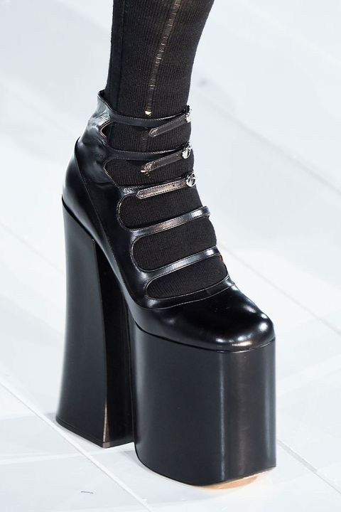 <p>It was a year of staggeringly high platforms—and Marc Jacobs came out on top with his gothic Maryjanes. We look forward to seeing the '90s printed version from Spring 2017 on (suddenly) ultra-tall girls.</p>
