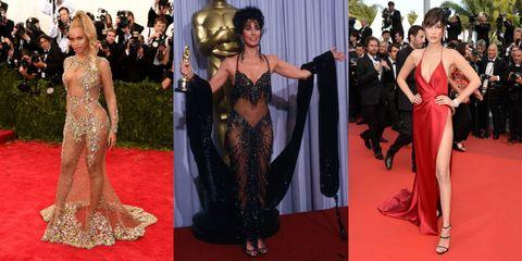 nude look vestiti scandalosi delle star sul red carpet