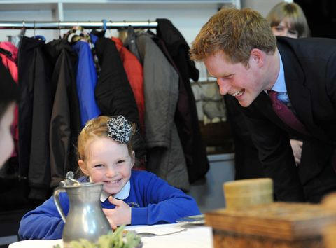 <p>Prince Harry makes us all giddy as a school girl.</p>