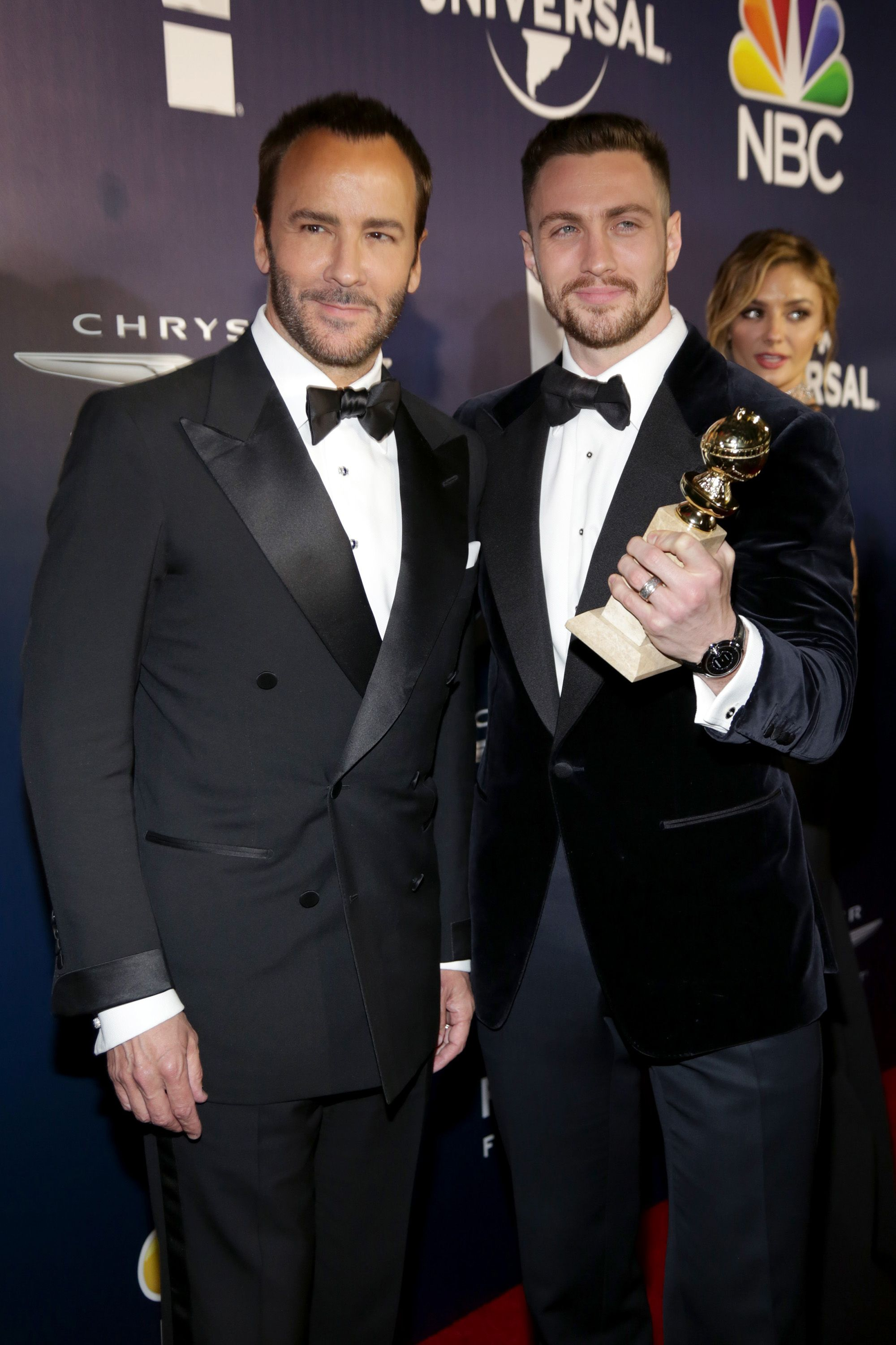 <p>Tom Ford e Aaron Taylor Johnson</p>