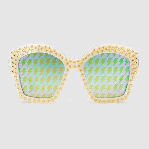 Occhiali da sole a specchio 2017: modello quadrato di Gucci