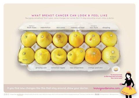 foto dei limoni per la prevenzione del cancro al seno