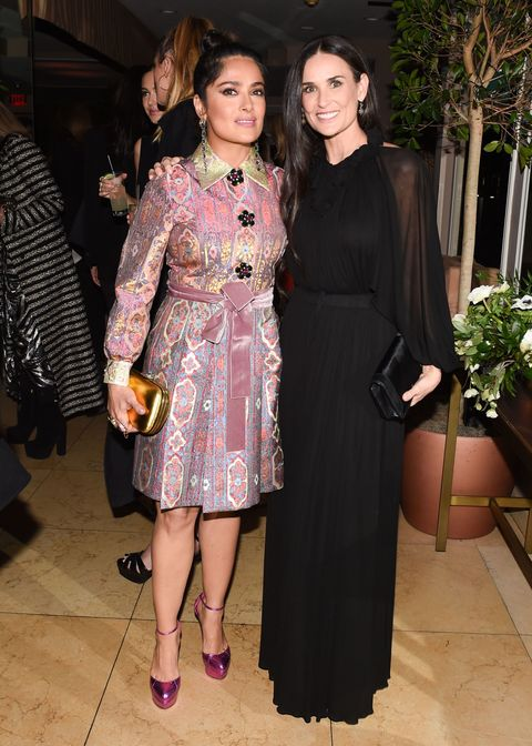 <p>Salma Hayek in Gucci e Demi Moore.</p>