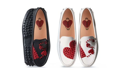 Regali moda con cuori per San Valentino romantico come i mocassini Tod's
