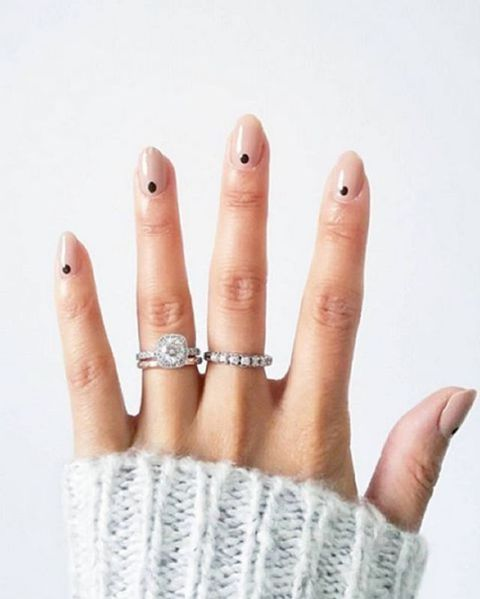 "<p>Manicure minimalists: a petite dot at the base of the nail is easiest way to experiment with nail art.</p><p><a href=""https://www.instagram.com/p/BBfl2U9w4EV/?taken-by=deborahlippmann""></a><a href=""https://www.instagram.com/p/BBfl2U9w4EV/?taken-by=deborahlippmann""></a><em data-redactor-tag=""em"" data-verified=""redactor""><a href=""https://www.instagram.com/p/BBfl2U9w4EV/?taken-by=deborahlippmann"" target=""_blank"" data-tracking-id=""recirc-text-link"">@deborahlippmann</a></em></p>"
